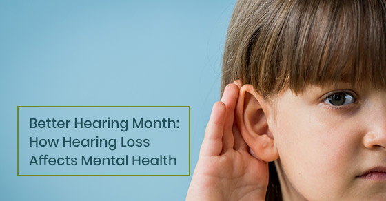 How does hearing loss affect mental health