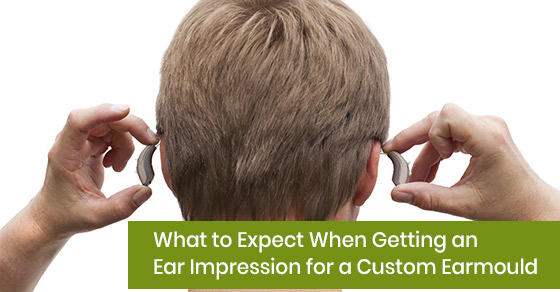 Ear impression for custom earmould